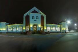 Муром, железнодорожный вокзал ночью