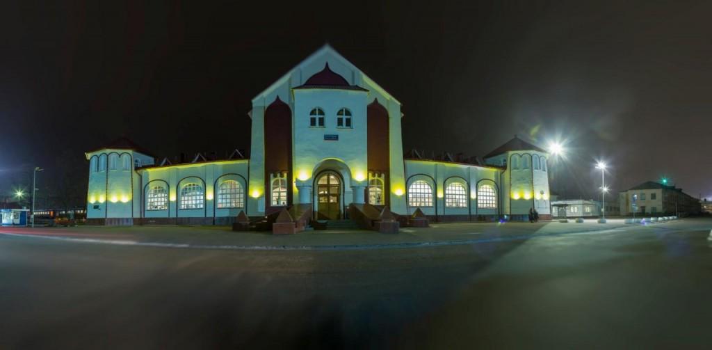 Муром, железнодорожный вокзал ночью 01