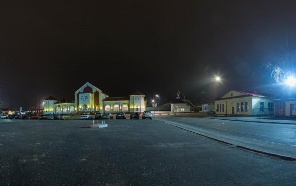 Муром, железнодорожный вокзал ночью 02