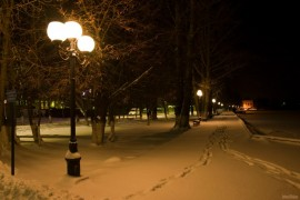 Набережная зимой. г. Гусь-Хрустальный