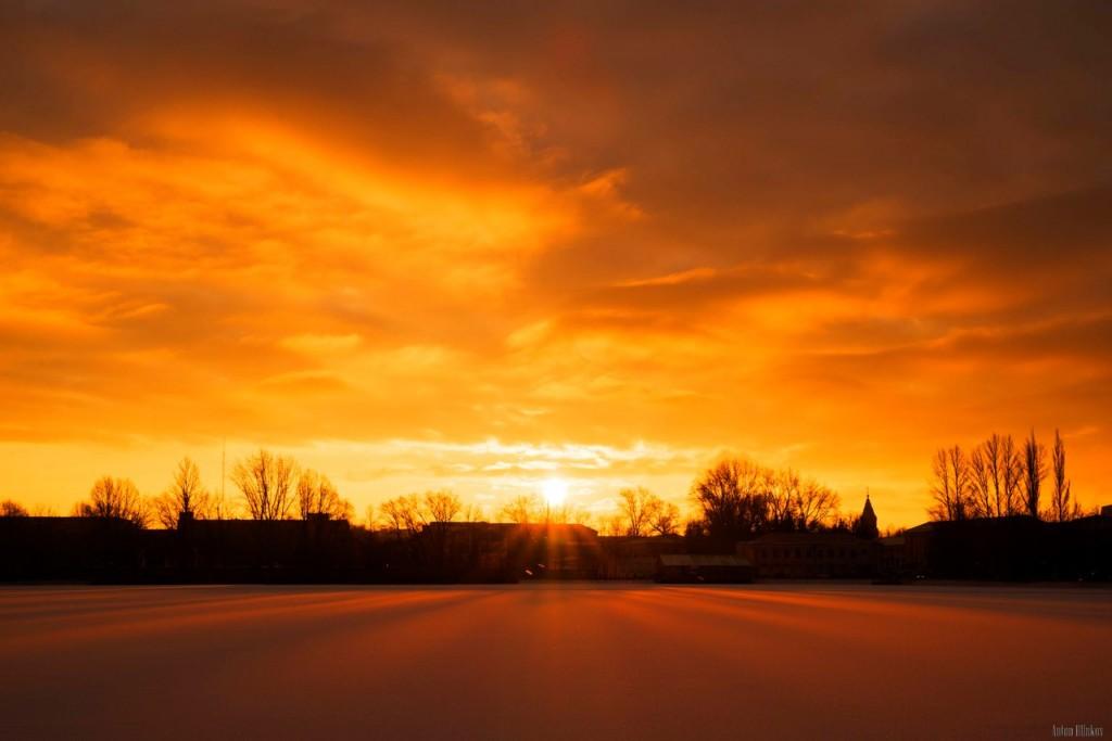 Ноябрьский рассвет на Владимирской земле