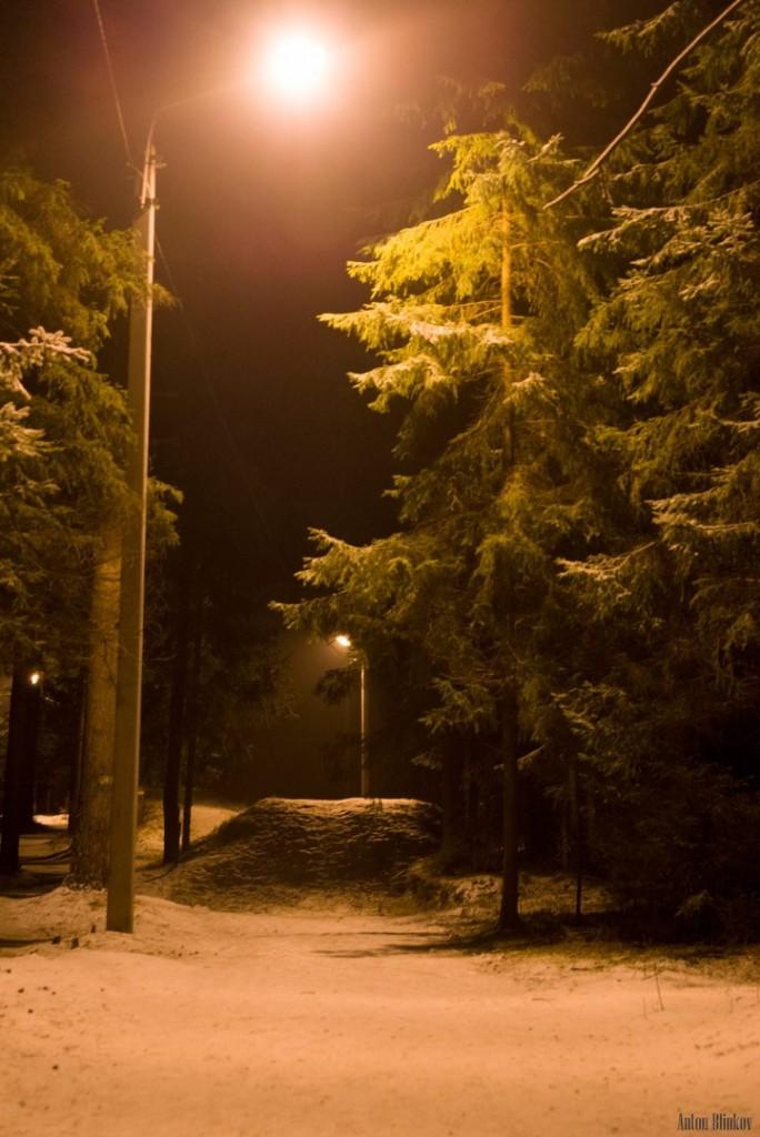 Освещённая трасса для занятий спортом в Гусь-Хрустальном 03