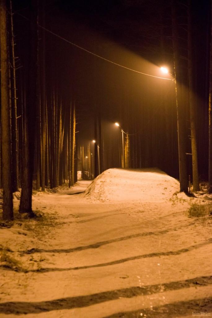 Освещённая трасса для занятий спортом в Гусь-Хрустальном 04