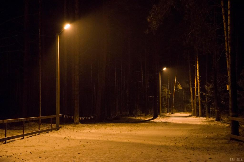 Освещённая трасса для занятий спортом в Гусь-Хрустальном 05