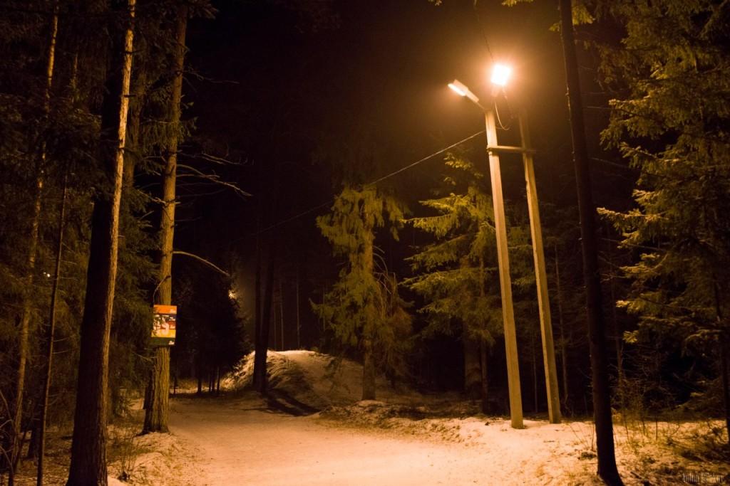 Освещённая трасса для занятий спортом в Гусь-Хрустальном 06