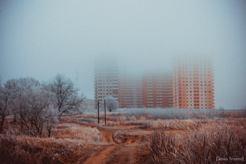 Пейзажи Владимира. Осенний иней 04