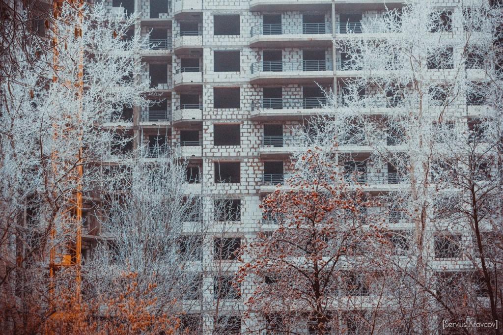 Пейзажи Владимира. Осенний иней 06