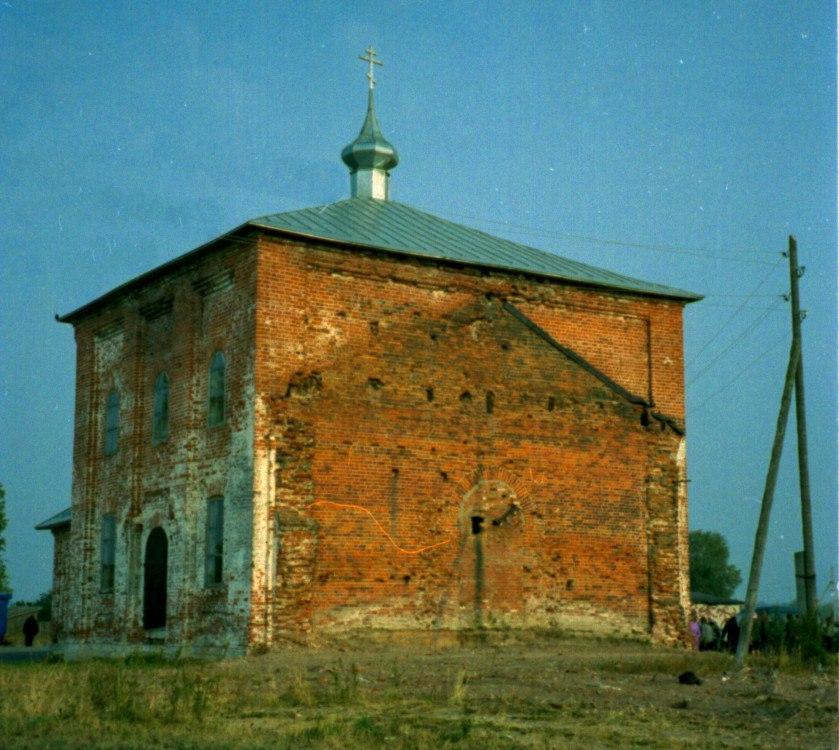 Пожар в церкви с. Синжаны Меленковского района 01