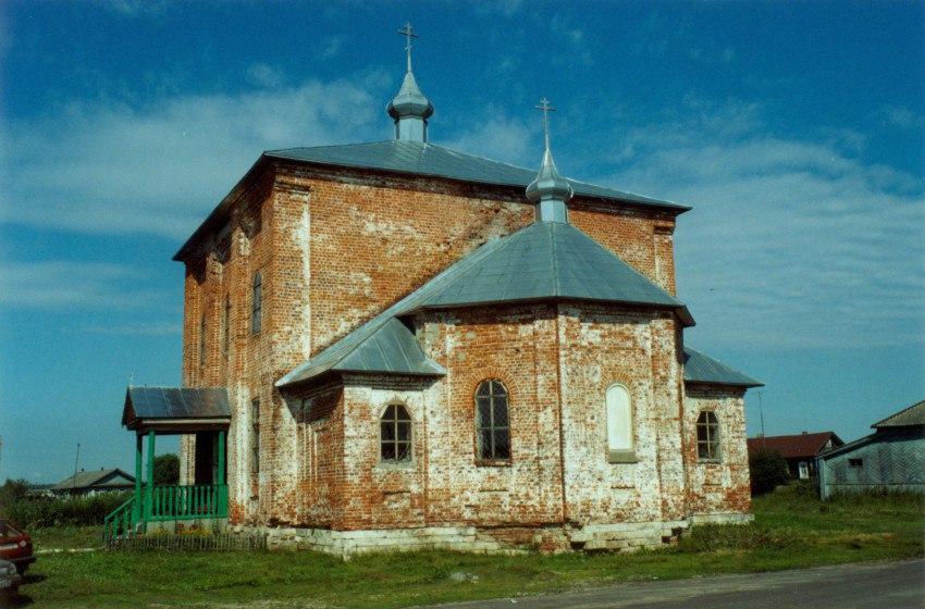 Пожар в церкви с. Синжаны Меленковского района 02