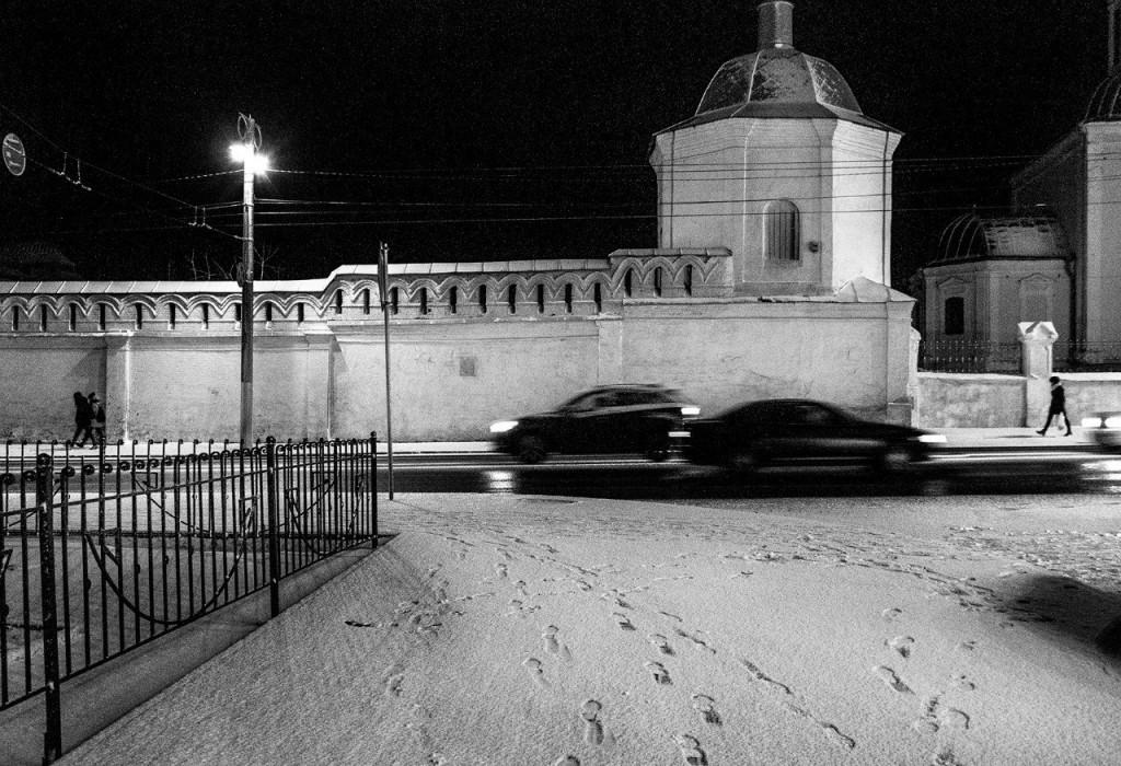 Предновогодний Владимир в оттенках серого 03