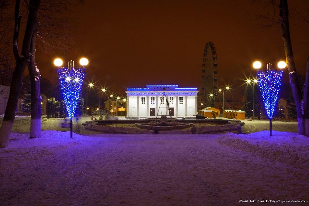 Прогулка по зимнему центральному парку Владимира 02