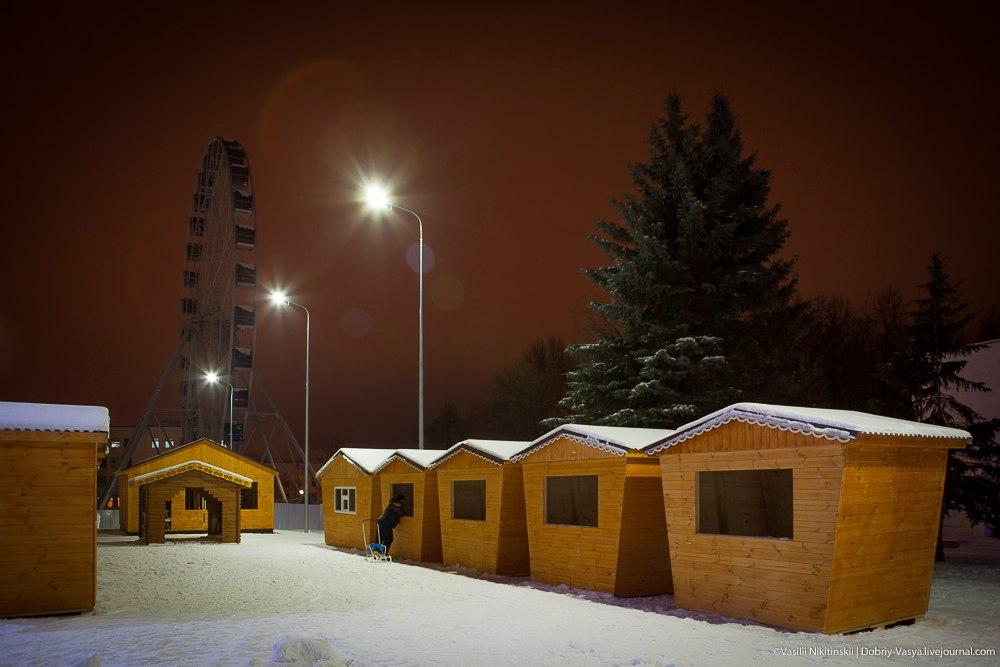 Прогулка по зимнему центральному парку Владимира 03