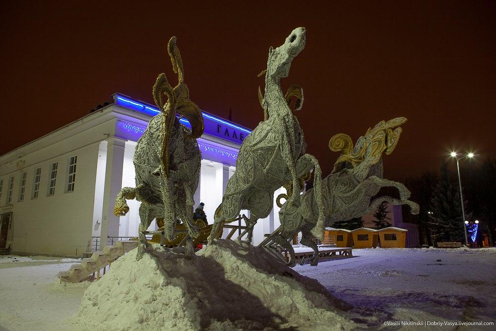 Прогулка по зимнему центральному парку Владимира 04