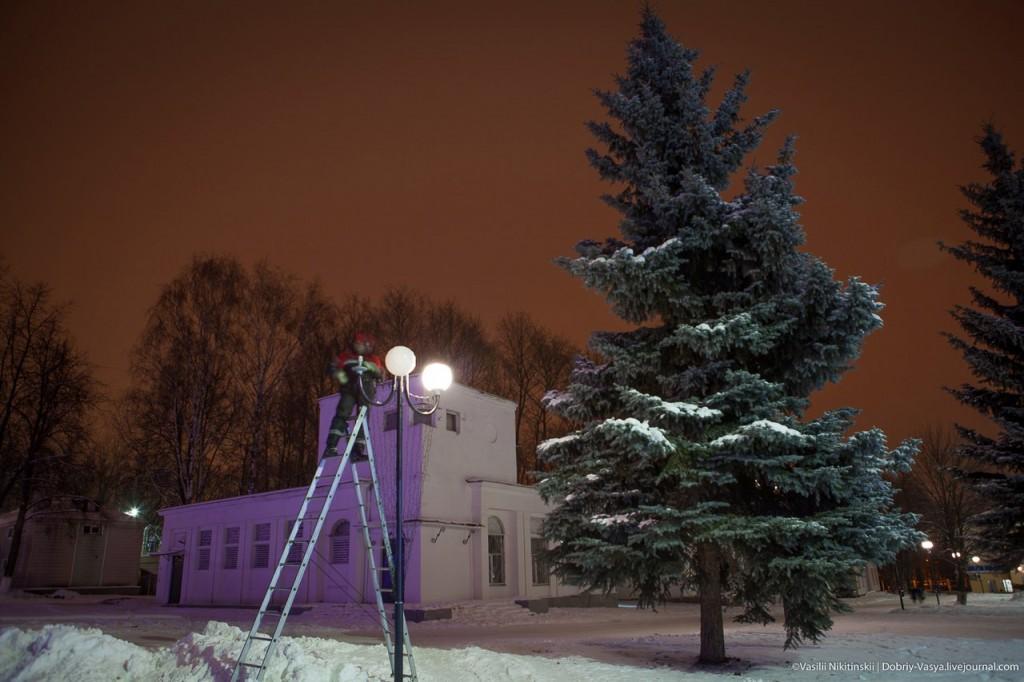 Прогулка по зимнему центральному парку Владимира 08