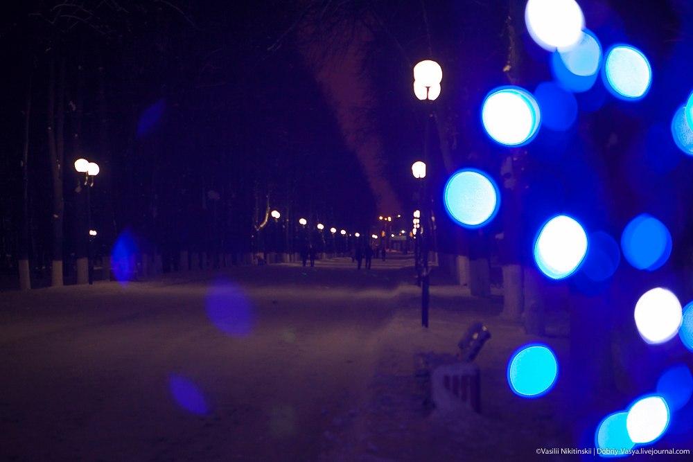 Прогулка по зимнему центральному парку Владимира 09