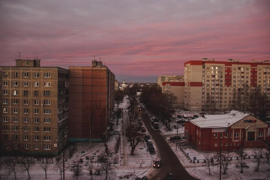 Рассвет из окна во Владимире 01