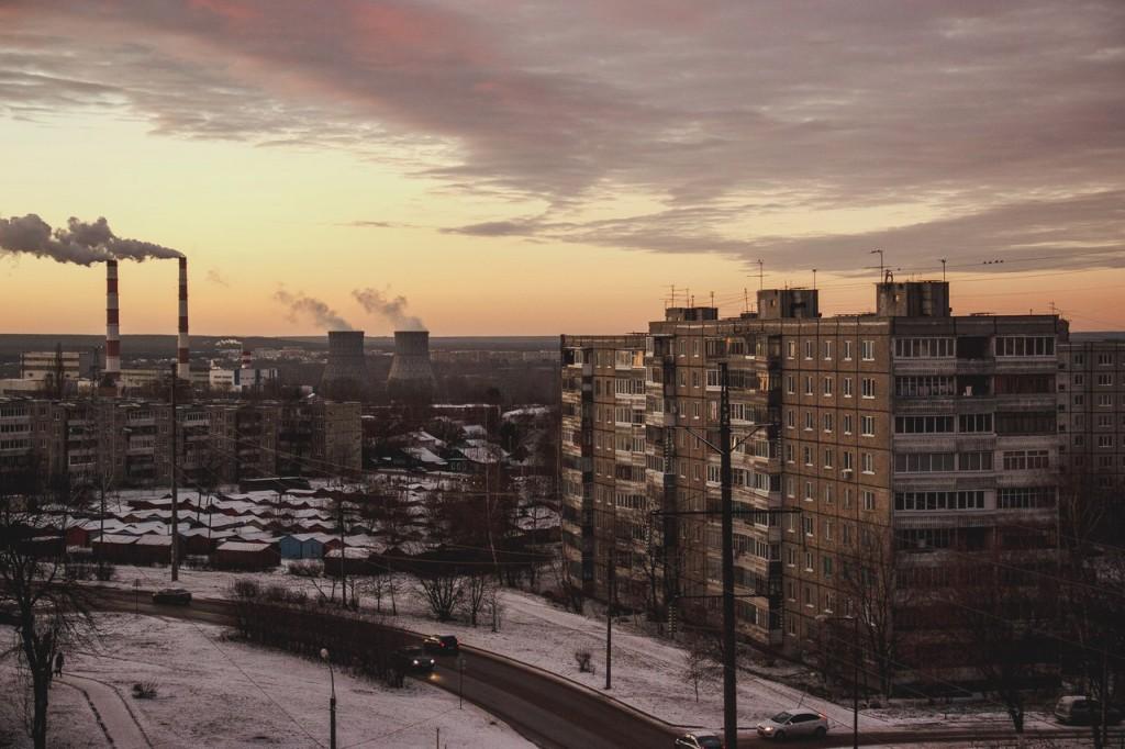 Рассвет из окна во Владимире 02