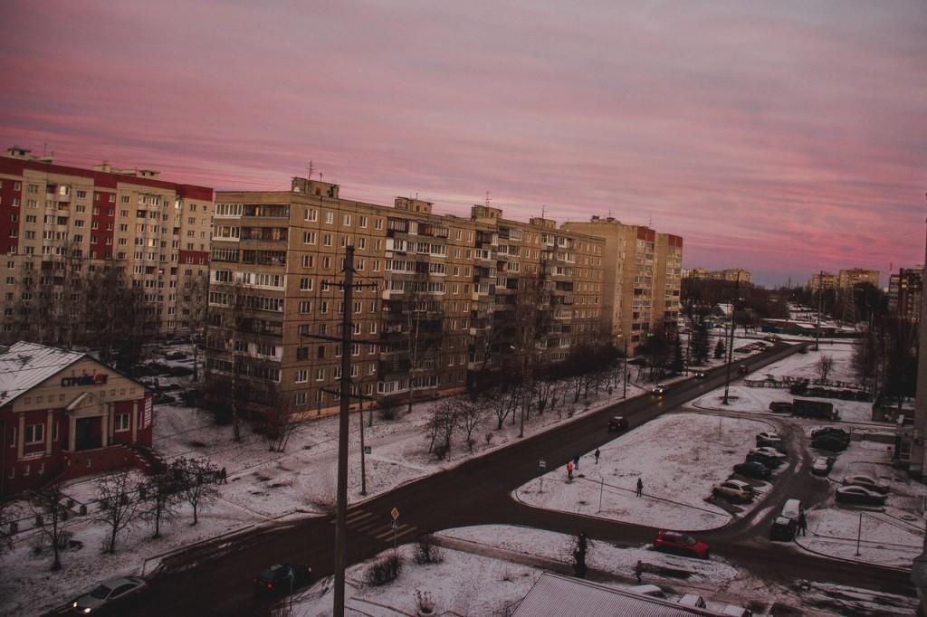 Рассвет из окна во Владимире 03
