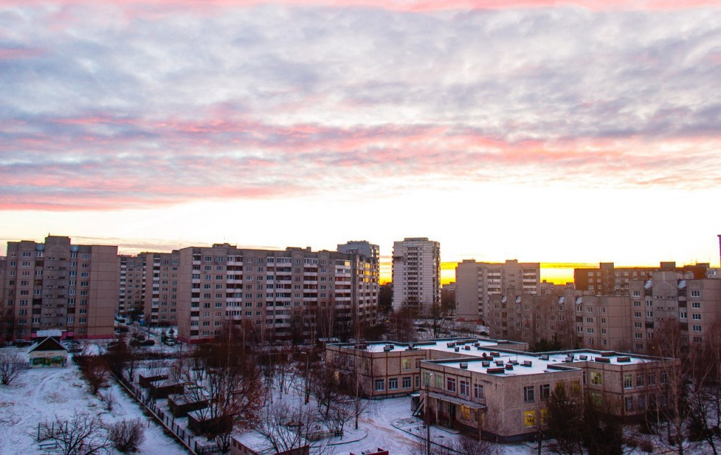 Рассвет из окна во Владимире 04