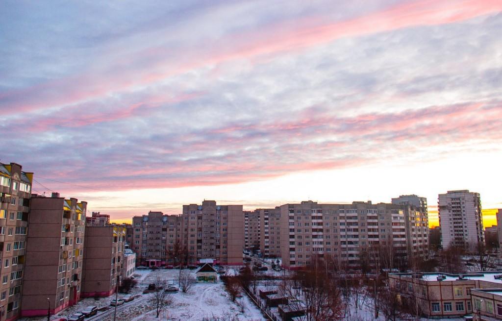 Рассвет из окна во Владимире 05