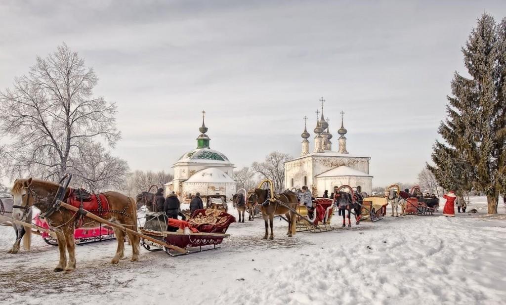Русская зима в Суздале