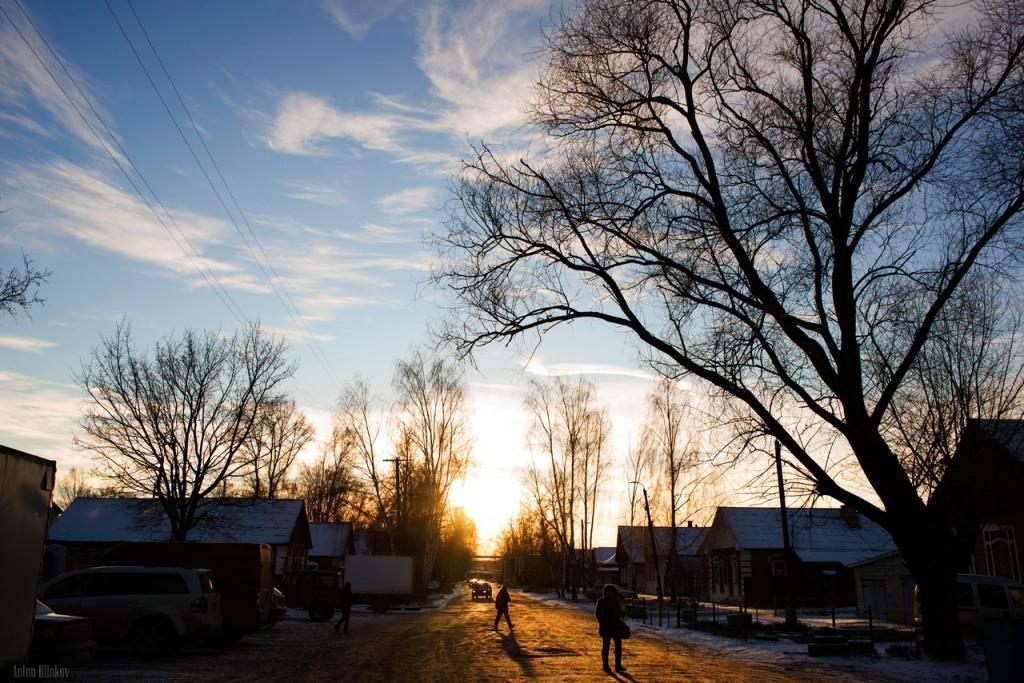 Сегодня морозным вечером в г. Гусь-Хрустальный