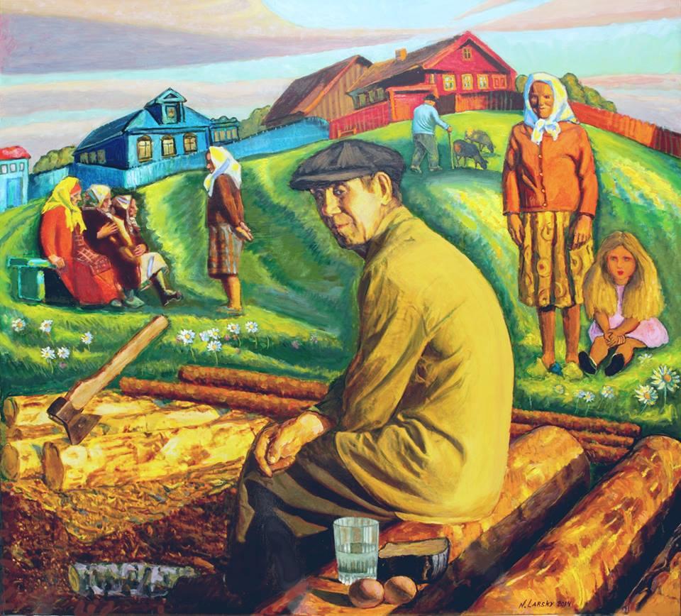 Село Любец - Русские женщины. Деревня. Провинция 04