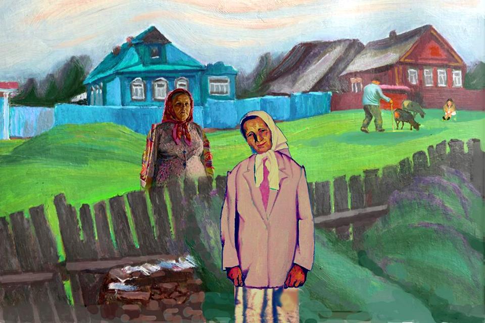 Село Любец - Русские женщины. Деревня. Провинция 06