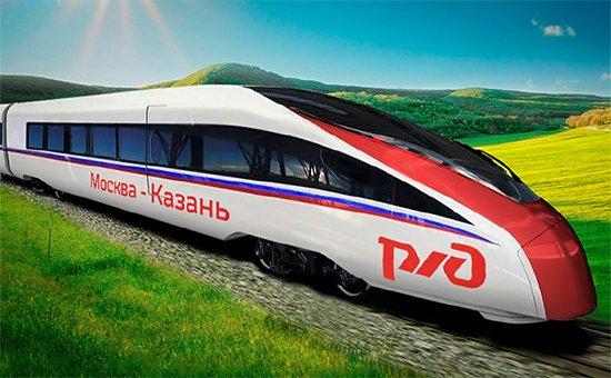 Скоростной поезд Москва - Казань 01