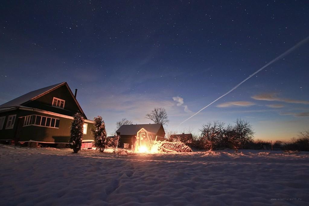 Снежный ноябрь во Владимирской деревне 01