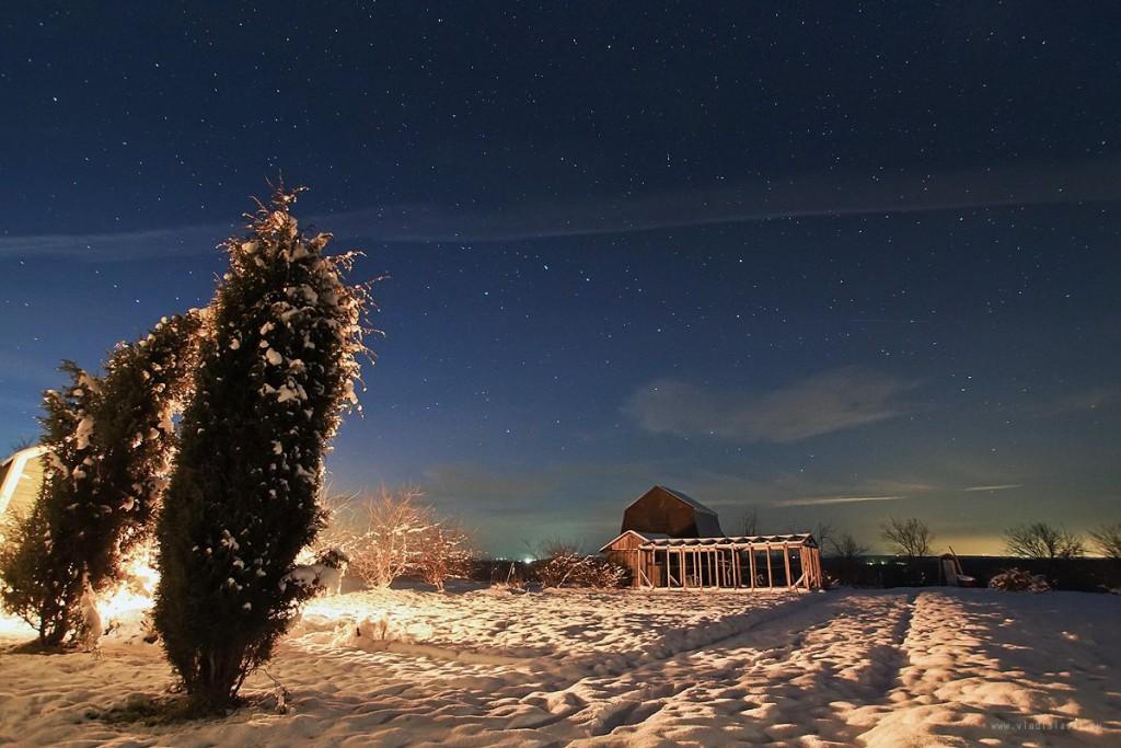 Снежный ноябрь во Владимирской деревне 02