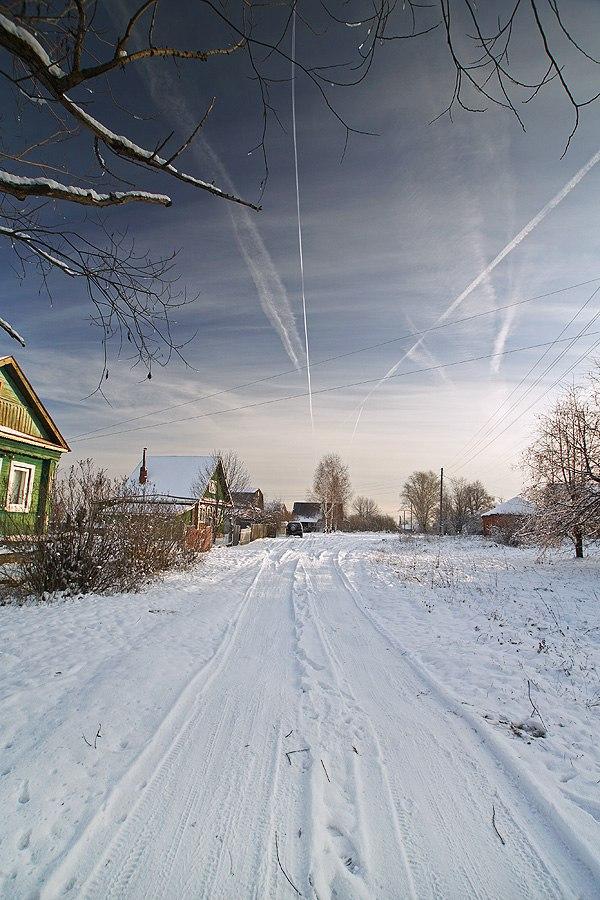 Снежный ноябрь во Владимирской деревне 06