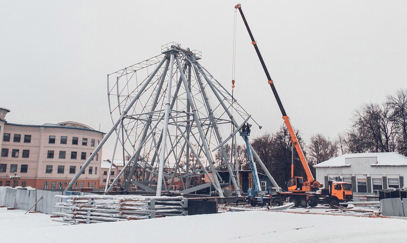 Строительство Колеса Обозрения во Владимире 05