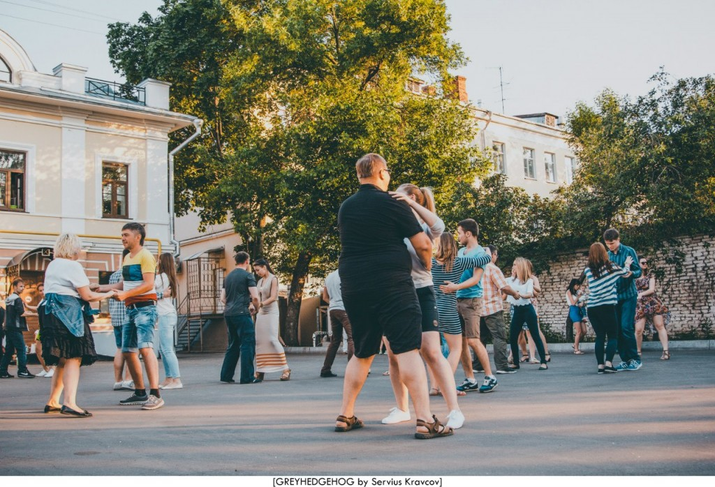 Танцы на свежем воздухе во Владимире 116
