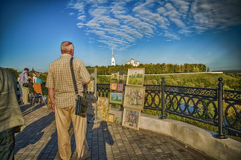 Туристы во Владимире