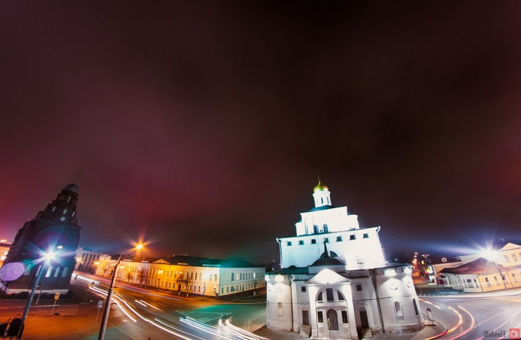 Центр ночного Владимира