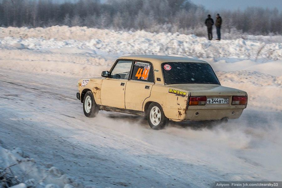 Новогодняя дуэль в д. Загорье (автоспорт) 14
