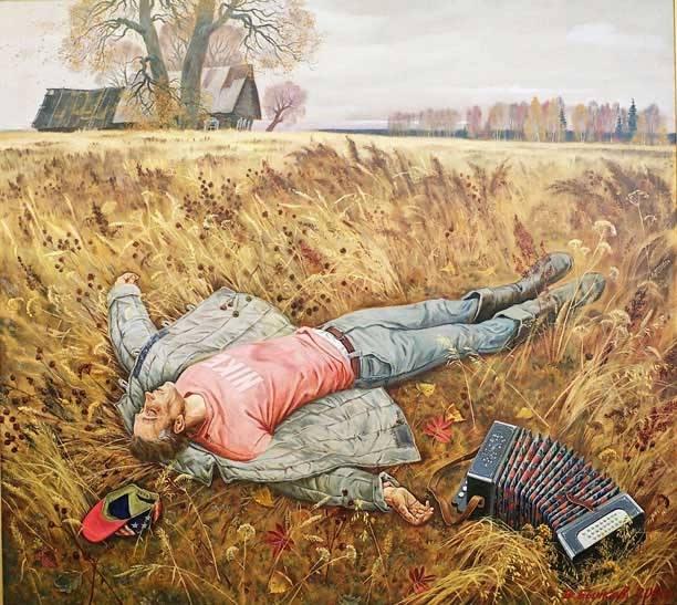 Жанровые картины Виктора Бычкова 01