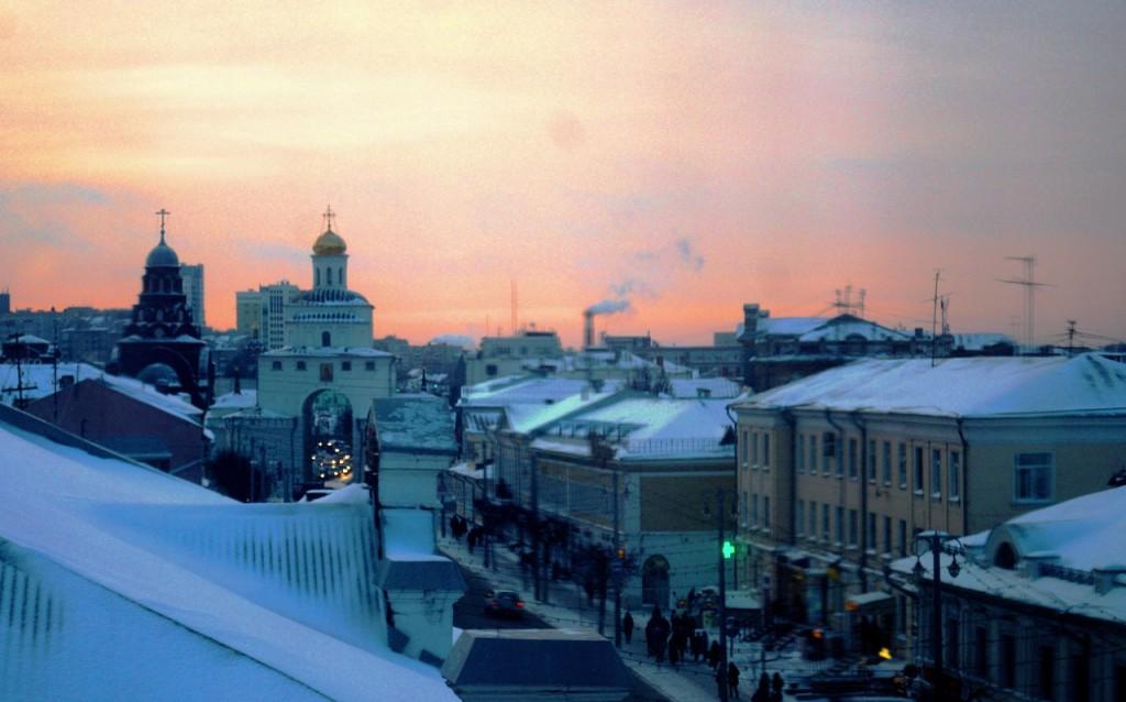 Зимний вечер во Владимире