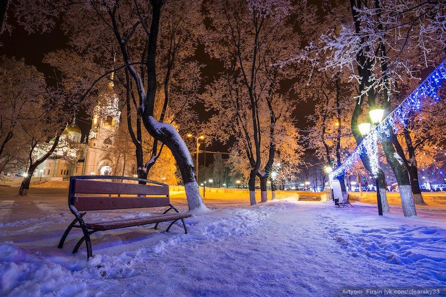 Зимняя ночь во Владимире 02