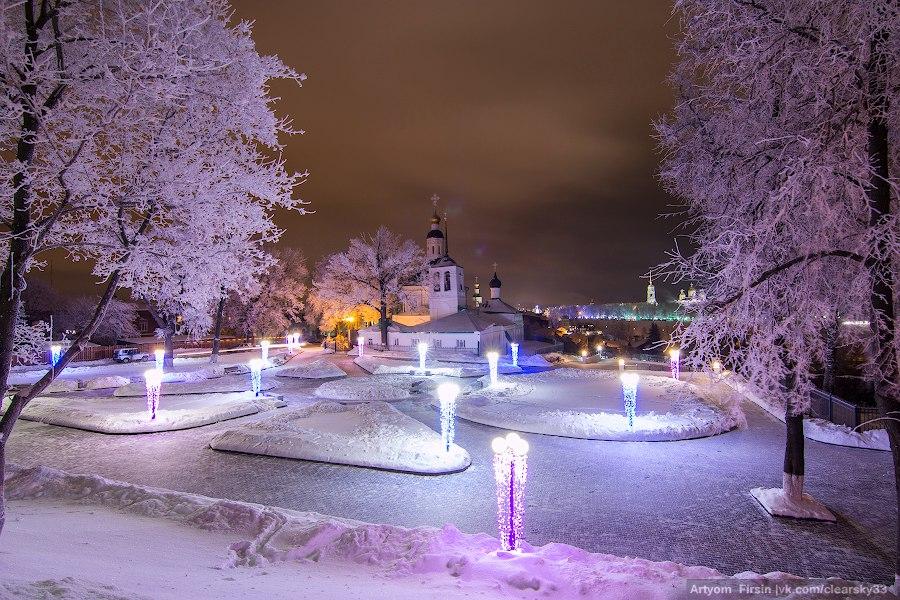 Зимняя ночь во Владимире 03