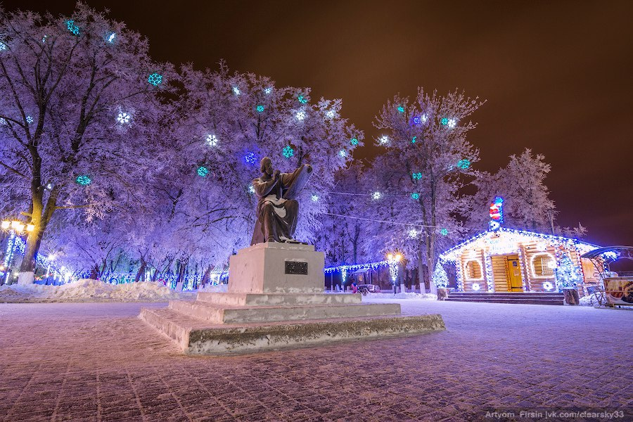 Зимняя ночь во Владимире 09