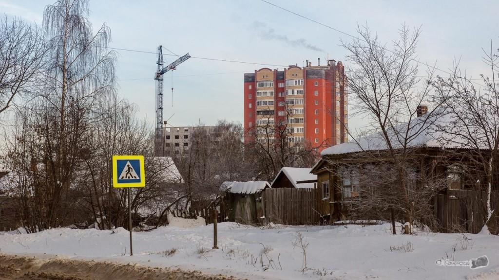 Ковров. Из XX в XXI Взгляд с пр. Мира на ул. Профсоюзную
