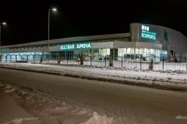 Ледовая арена «Ковровец» занесенная снегом