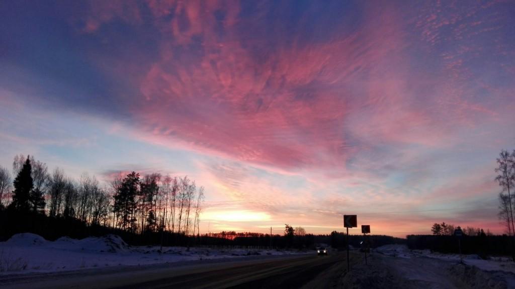 Морозное утро во Владимирской области