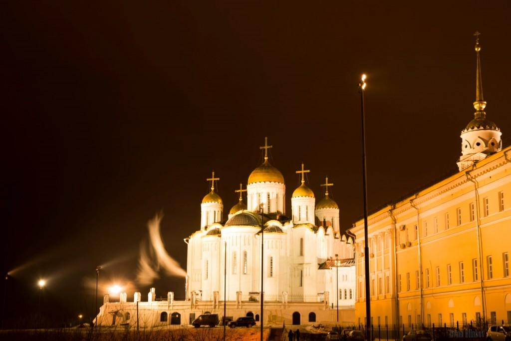 Успенский собор в Новогоднюю ночь