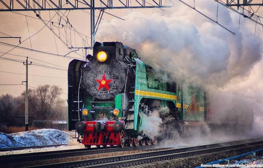 Фотоохота на ретропоезд от Кирилла Новикова
