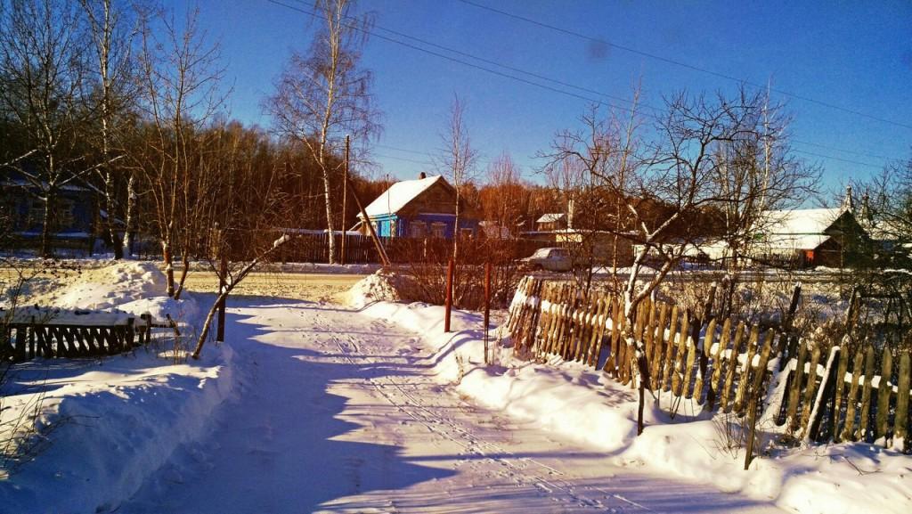 Чудесная зимняя Мстёра. Вид из окна. Утро 01