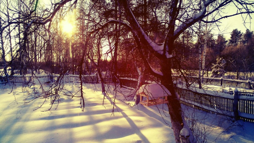 Чудесная зимняя Мстёра. Вид из окна. Утро 02