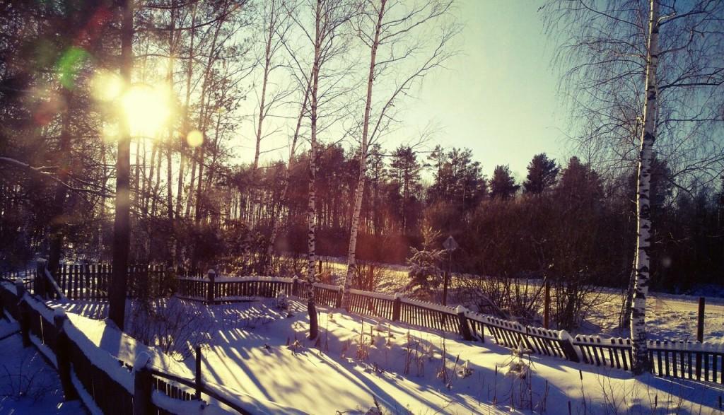 Чудесная зимняя Мстёра. Вид из окна. Утро 03